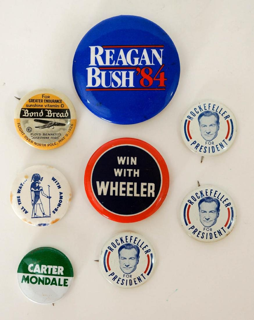 Group of Vintage Political Pinback Buttons, etc. - 3