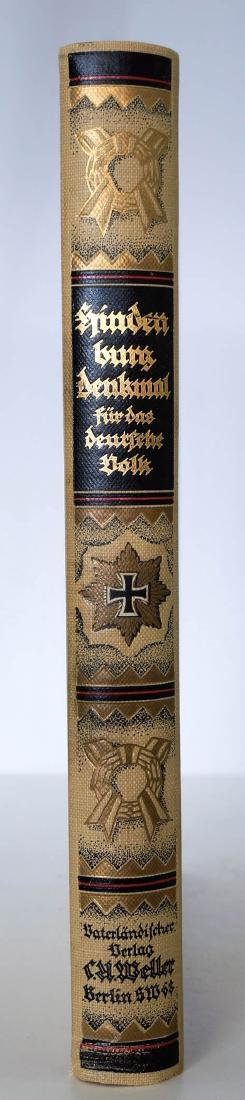 1922 Hindenburg, Denkmal Commemorative Book. - 2