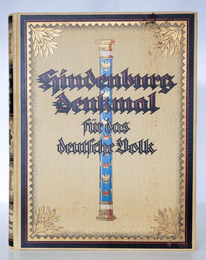 1922 Hindenburg, Denkmal Commemorative Book. - 3