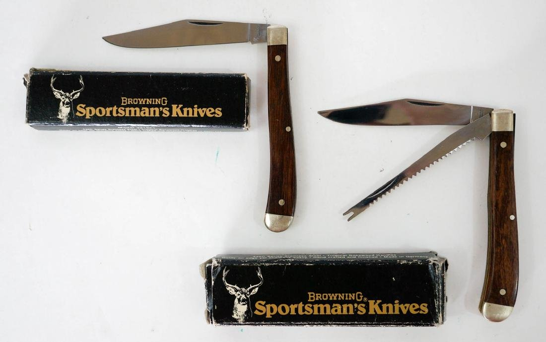 Two Browning Vintage Pocket Knives Unused