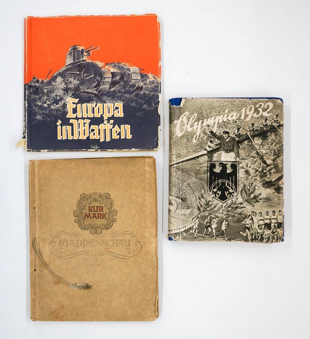 Three Vintage German Cigarette Card Albums