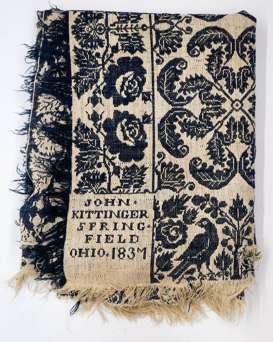 John Kittinger Springfield, Ohio 1837 Coverlet