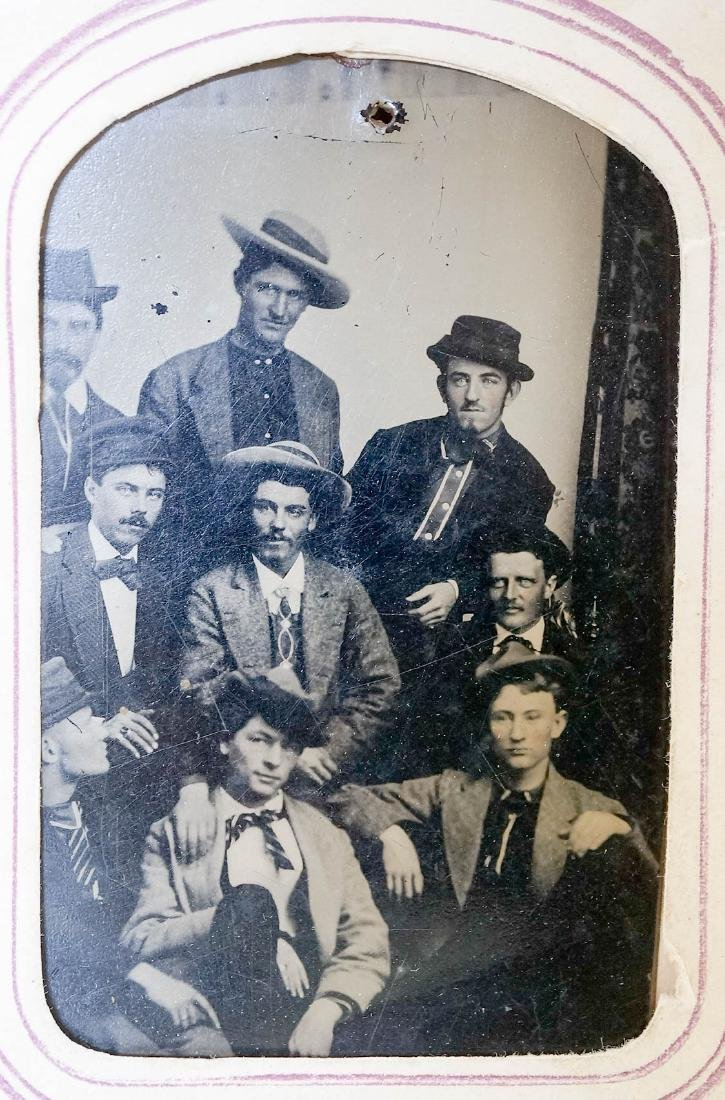 Antique Photo Album with Civil War Musician Image - 7