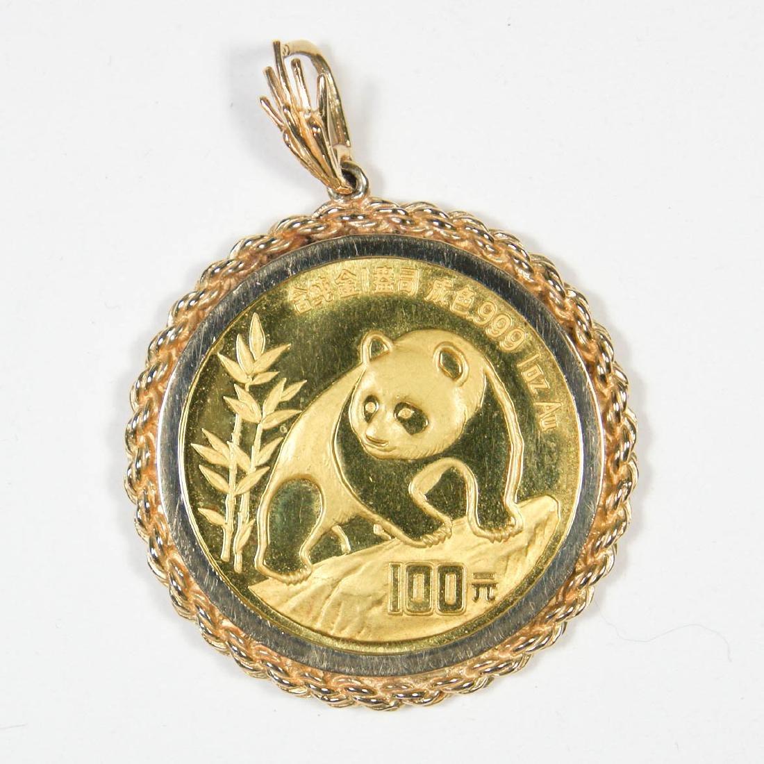 1990 100 Yuan Gold Panda One Ounce .999 China