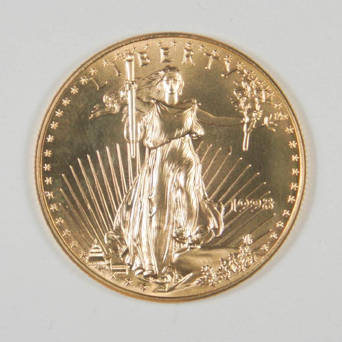 1998 Gold American Eagle $50 U.S. 1 Ounce .999