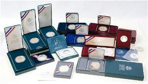 Group of US 90 Silver Commemorative Coins