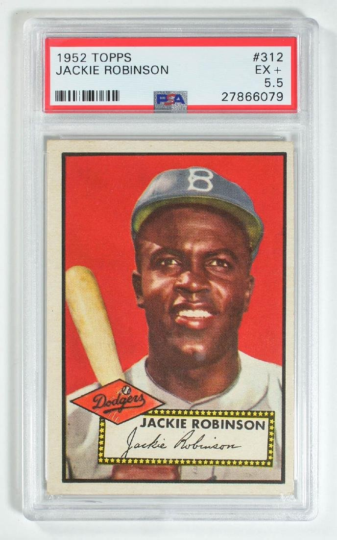 1952 Topps Jackie Robinson #312 PSA 5.5 Excellent+