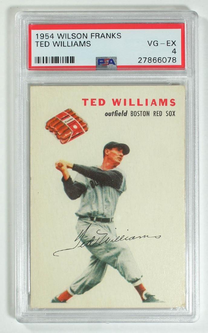 1954 Wilson Franks Ted Williams PSA 4 Vg-Ex