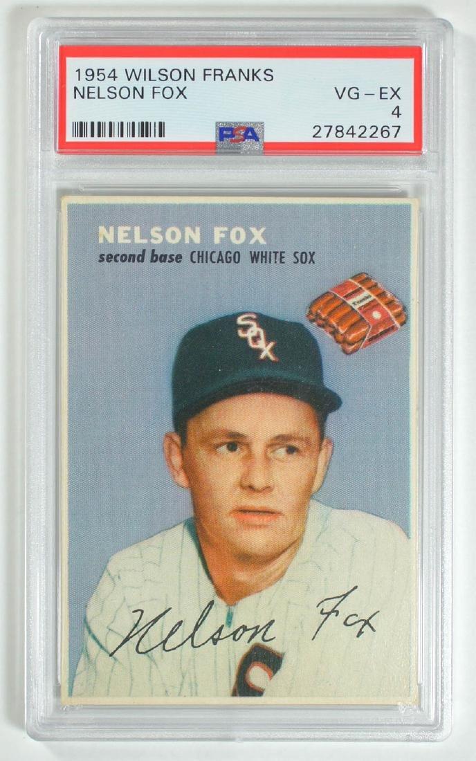 1954 Wilson Franks Nelson Fox PSA 4 Vg-Ex