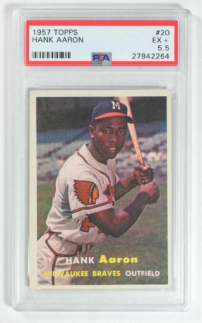 1957 Topps Hank Aaron #20 PSA 5.5 Excellent+