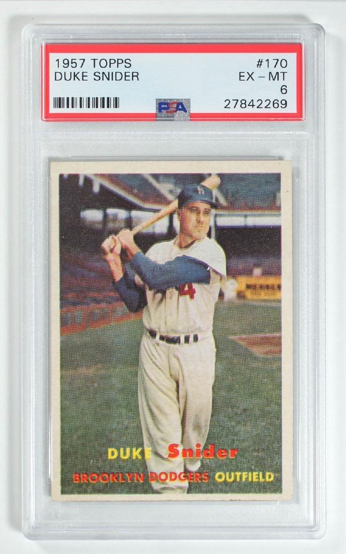 1957 Topps Duke Snider #170 PSA 6 Ex-Mt