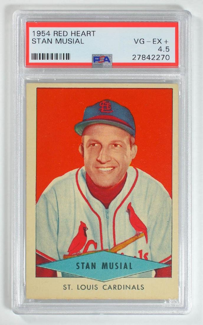 1954 Red Heart Stan Musial PSA 4.5 Vg-Ex