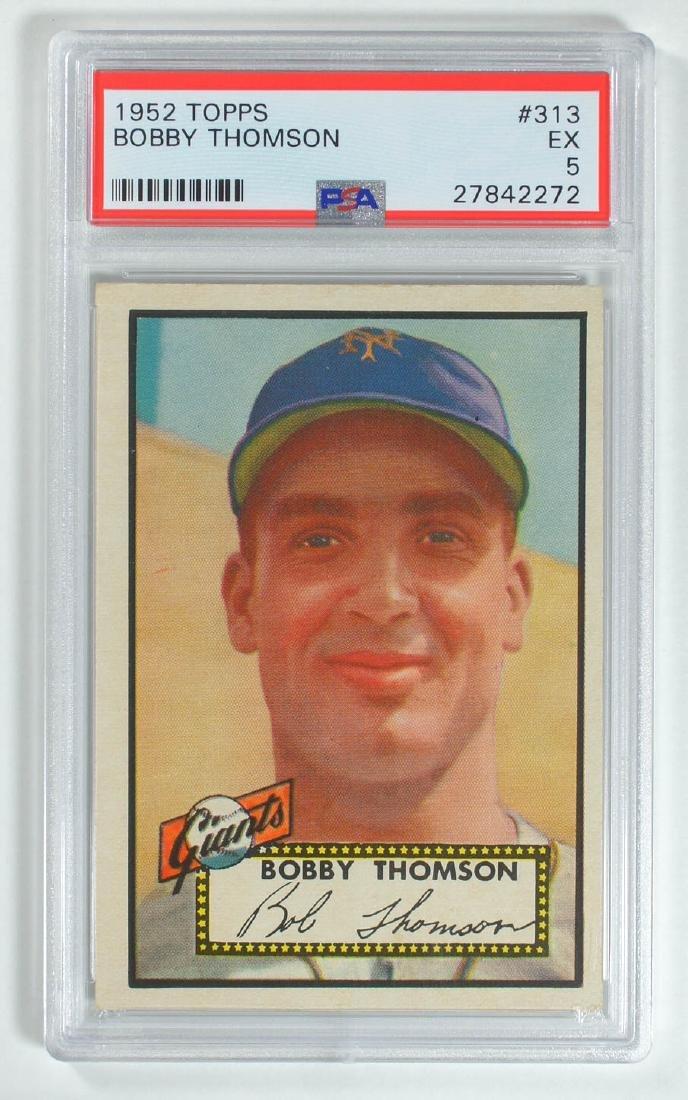 1952 Topps Bobby Thomson #313 PSA 5 Excellent
