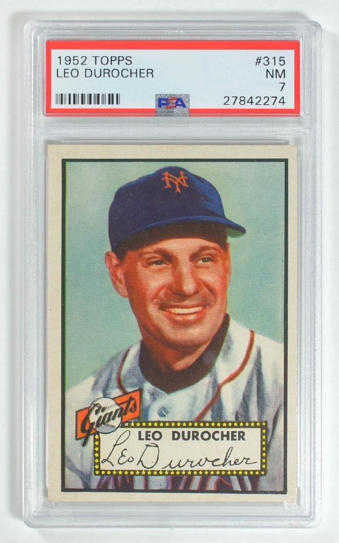 1952 Topps Leo Durocher #315 PSA 7 Near Mint