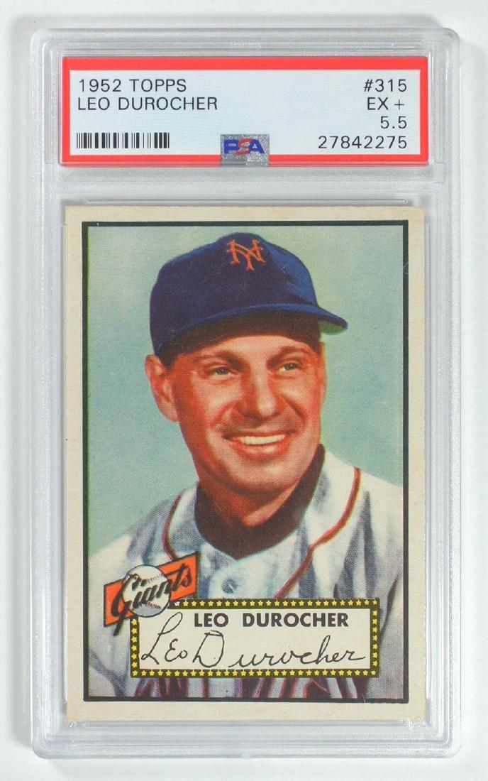 1952 Topps Leo Durocher #315 PSA 5.5 Excellent+