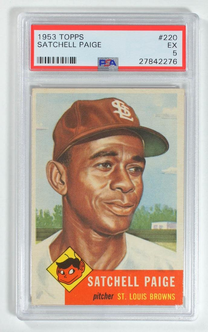 1953 Topps Satchell Paige #220 PSA 5 Excellent