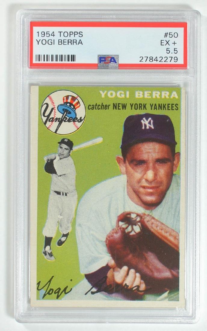 1954 Topps Yogi Berra #50 PSA 5.5 Excellent+
