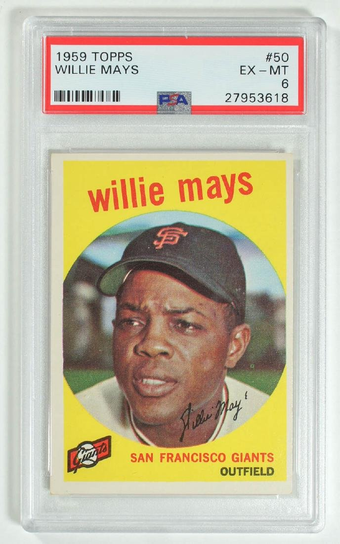 1959 Topps Willie Mays #50 PSA 6 Excellent-Mint