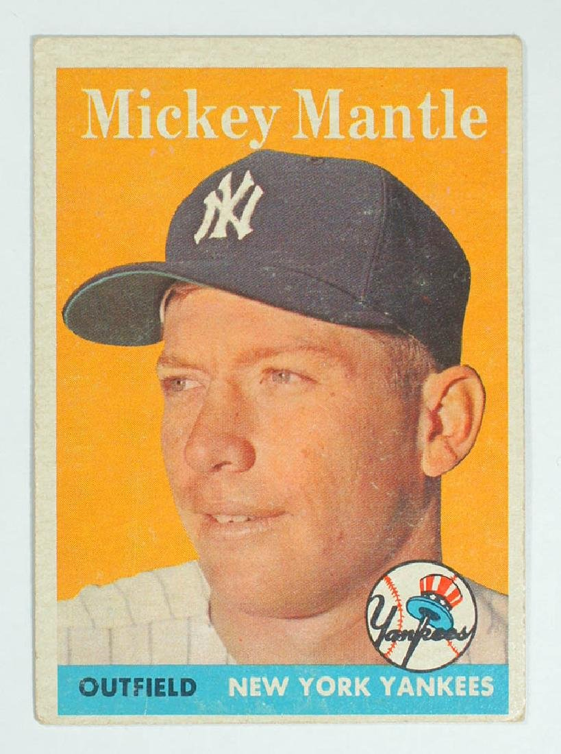 1958 Topps Mickey Mantle Baseball Card