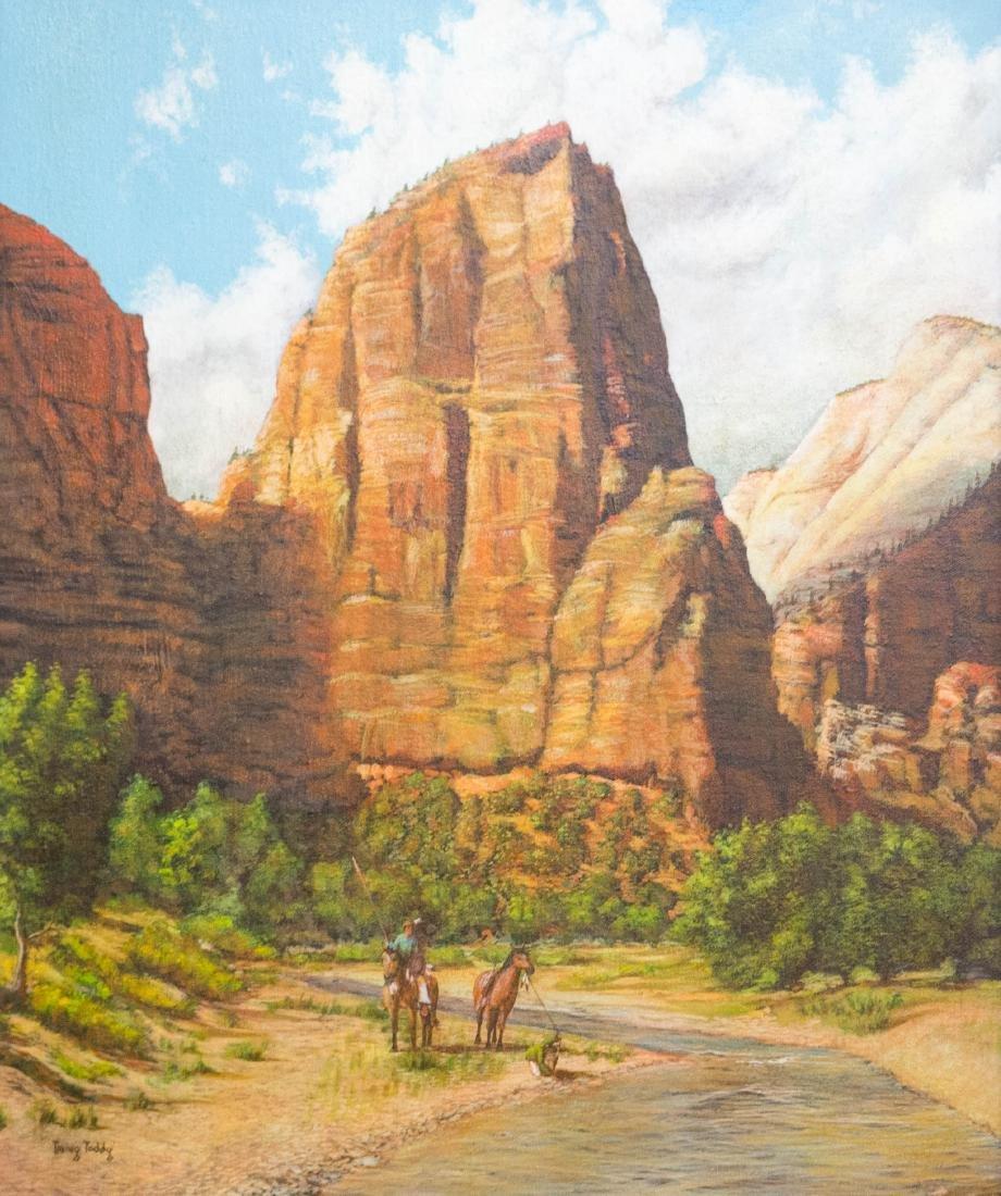 Irving Toddy (AZ, b.1951) Framed Oil Painting