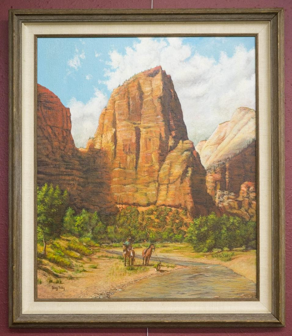 Irving Toddy (AZ, b.1951) Framed Oil Painting - 2