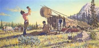 Jack Hines (MT, b.1923) Framed Oil Painting