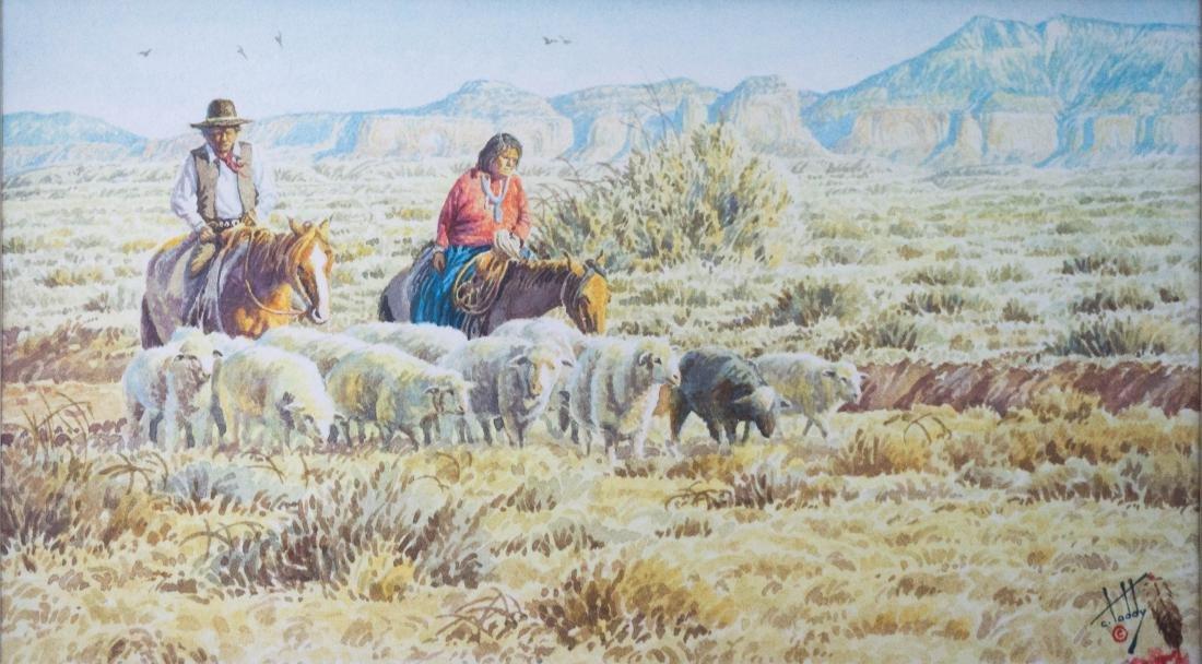 Calvin Toddy (AZ, b.1953) Framed Watercolor