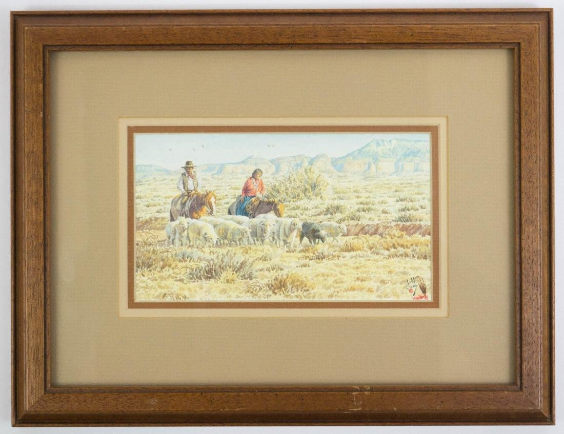 Calvin Toddy (AZ, b.1953) Framed Watercolor - 2