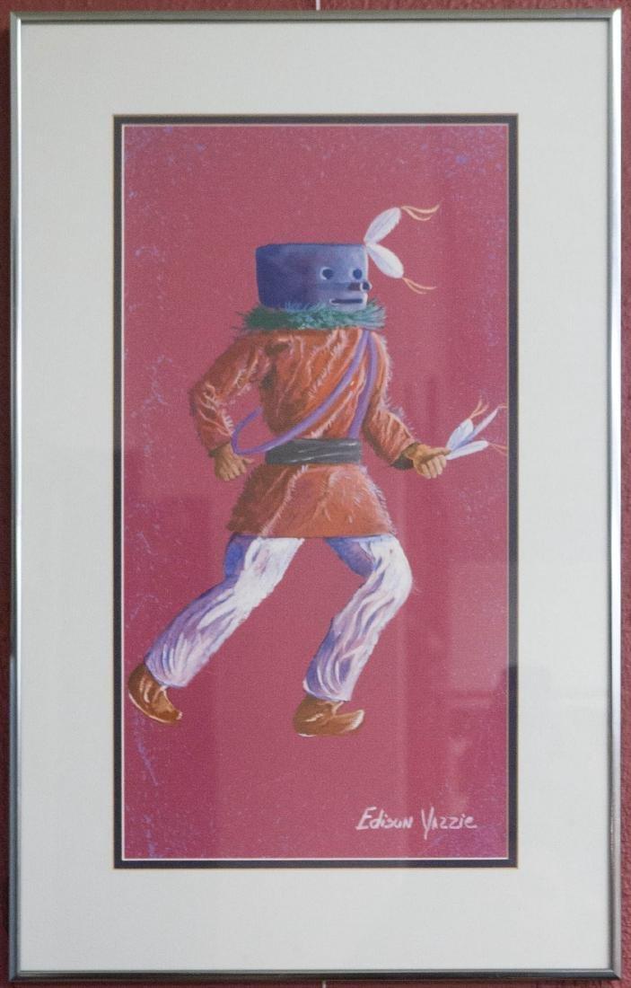 Edison Yazzie Framed Original Artwork