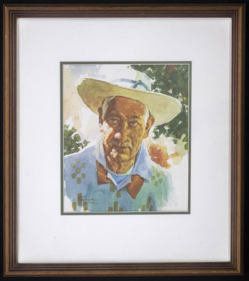 Ned Mueller (American, b.1940) Framed Watercolor