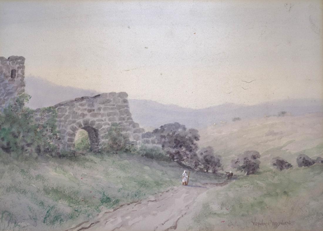 Wedworth Wadsworth (1846-1927) Original Watercolor
