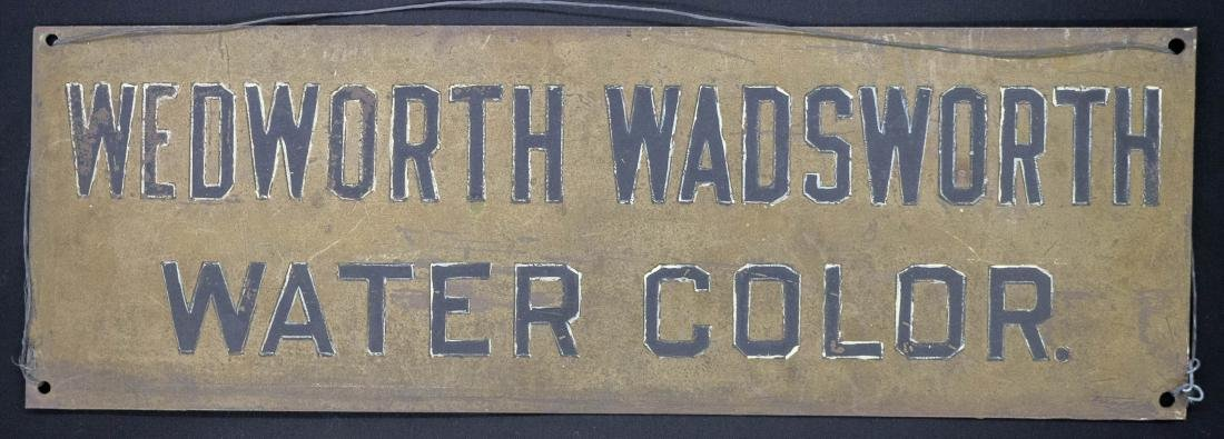 Wedworth Wadsworth Original Studio Sign