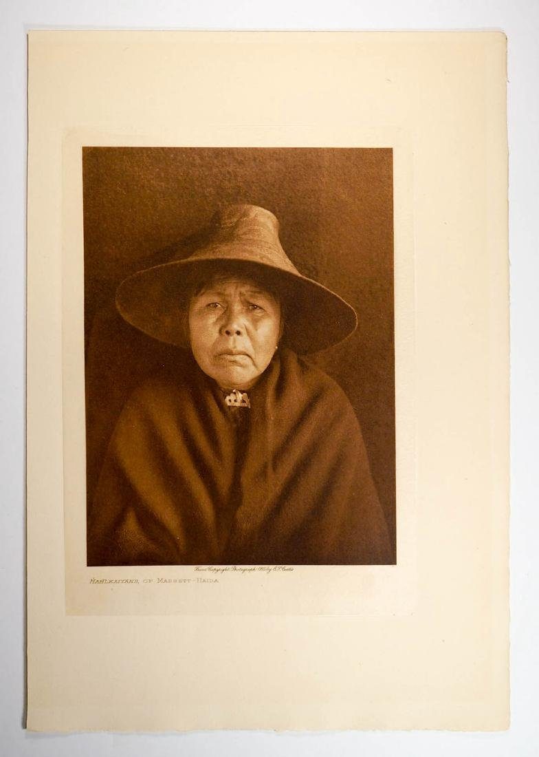 Edward Curtis Tissue Photogravure Haida, 1915