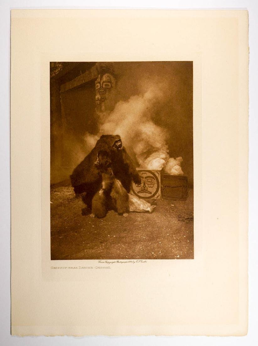 Edward Curtis Tissue Photogravure Grizzly Bear