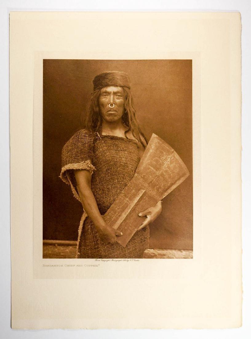 Edward Curtis Tissue Photogravure Nakoaktok, 1914