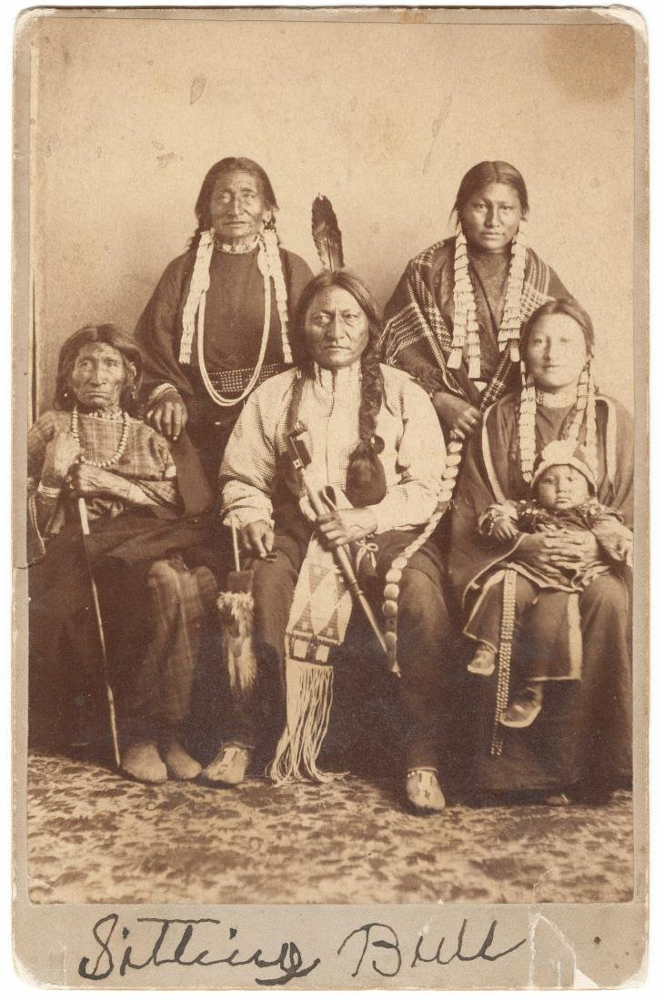 Sitting Bull Signed Cabinet Card Photo