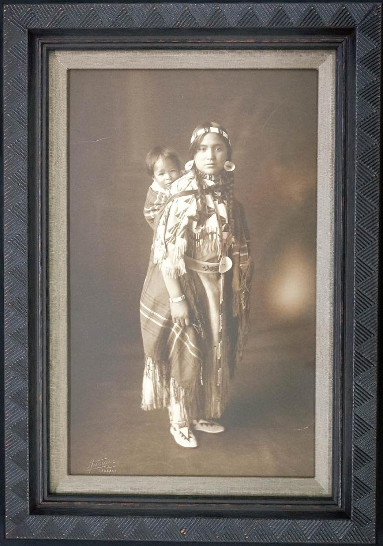 Oswald Angvire Framed Native American Photograph