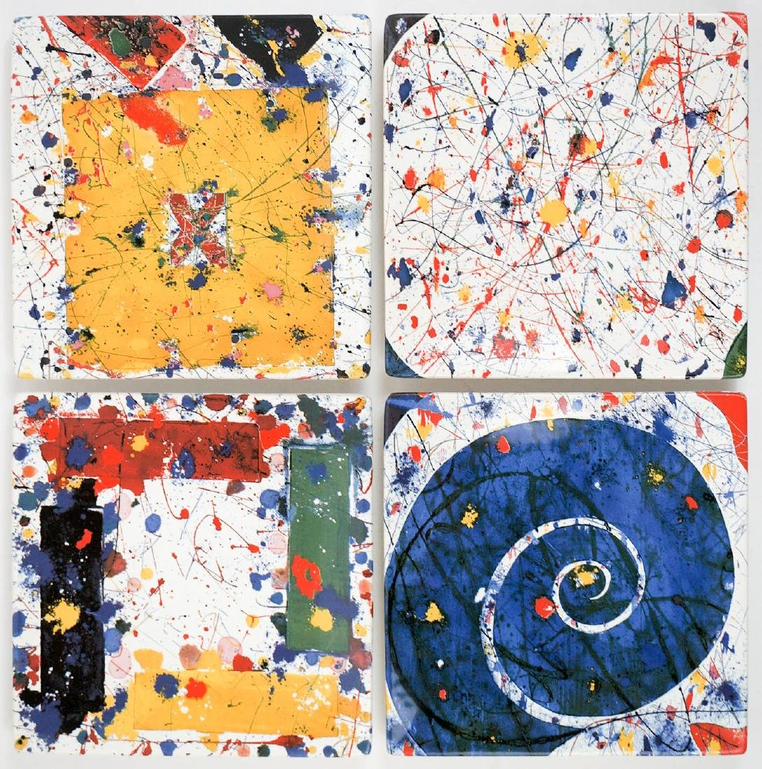 Sam Francis Limited Edition Ceramic Plates