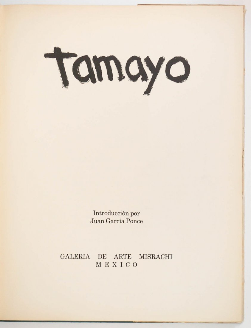 Tamayo with Introduction by Garcia Ponce - 3