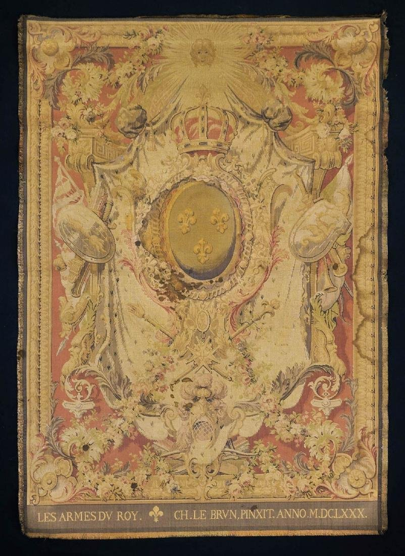 French Armorial Tapestry Panel
