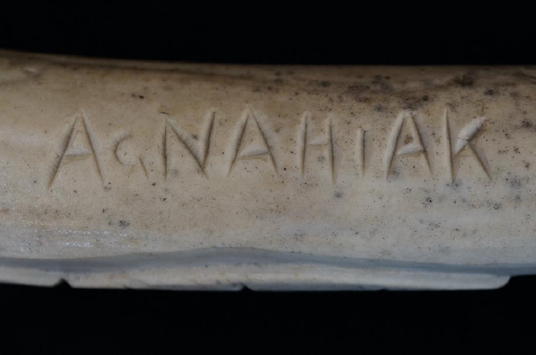 Agnahiak Bobby Klengenberg Inuit Carving - 6