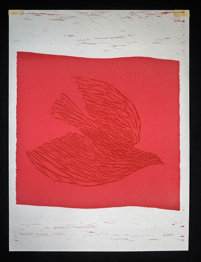 Margo Hoff (1912-2008) Signed Color Woodcut