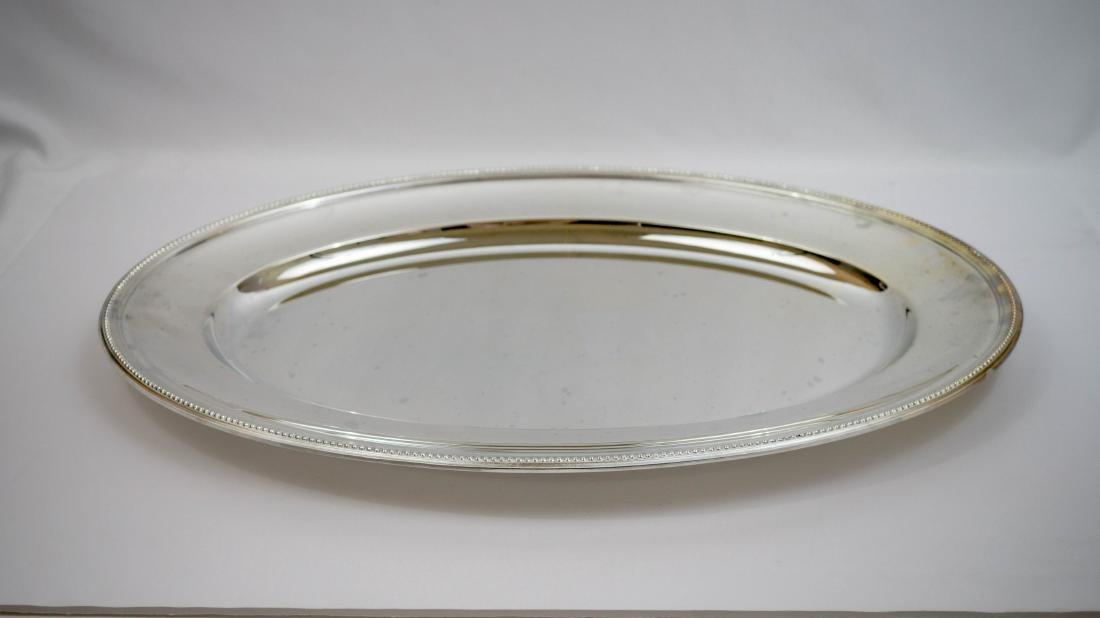 Christofle Large Silver Plate Oval Serving Tray