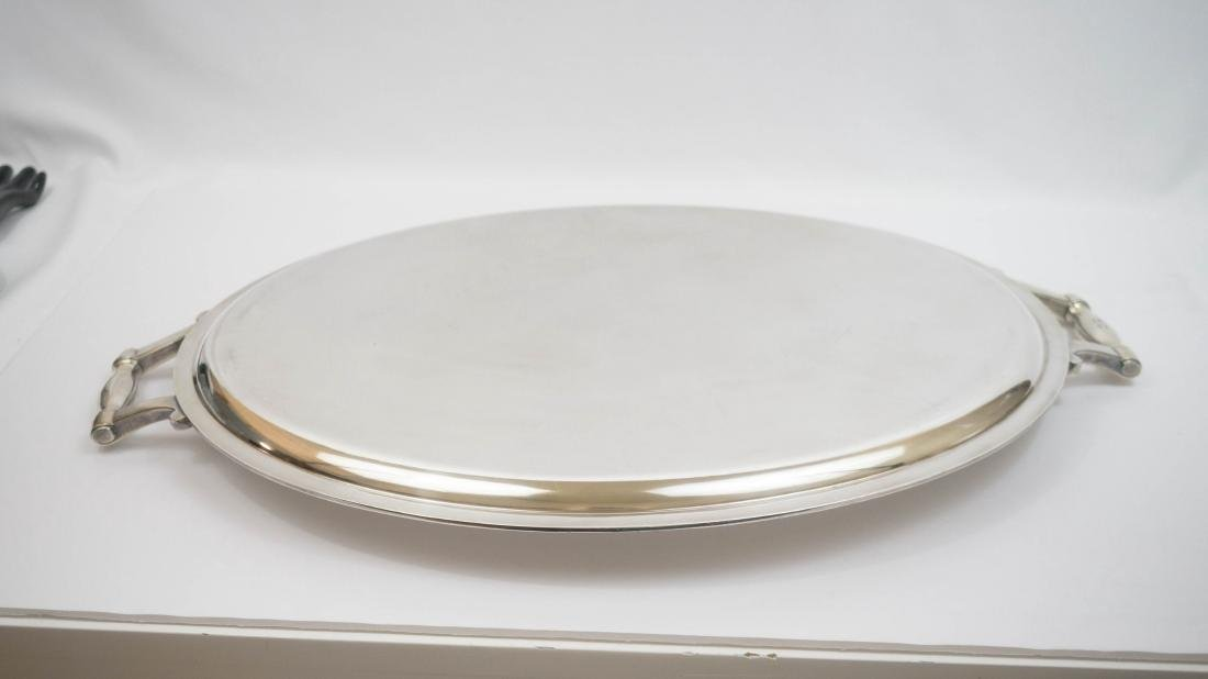 Large Silver Plated Christofle Gallia Oval Tray - 2