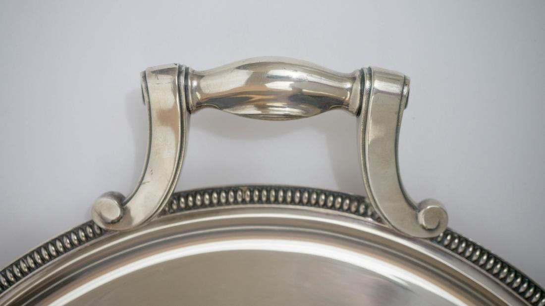 Large Silver Plated Christofle Gallia Oval Tray - 4