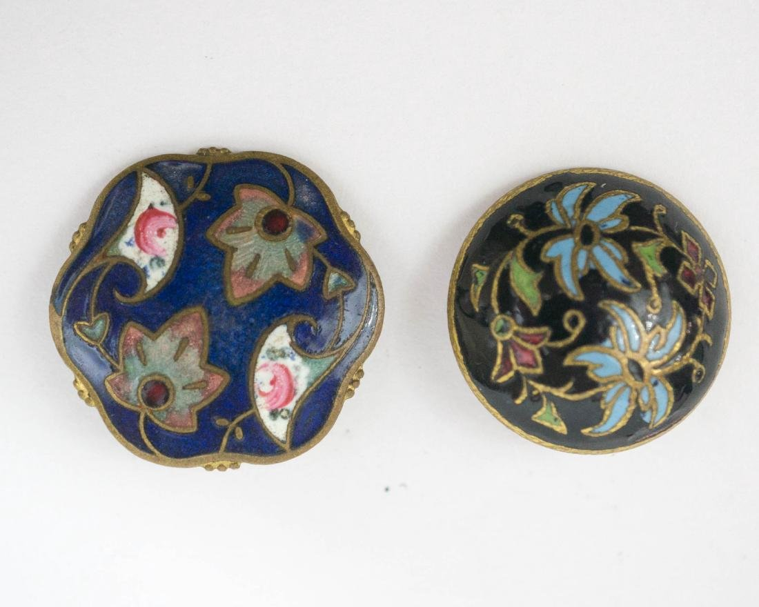 Two Cloisonne Button Sets, Ring - 3