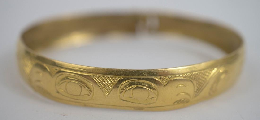 Old Northwest Coast Solid Gold Bracelet - 2
