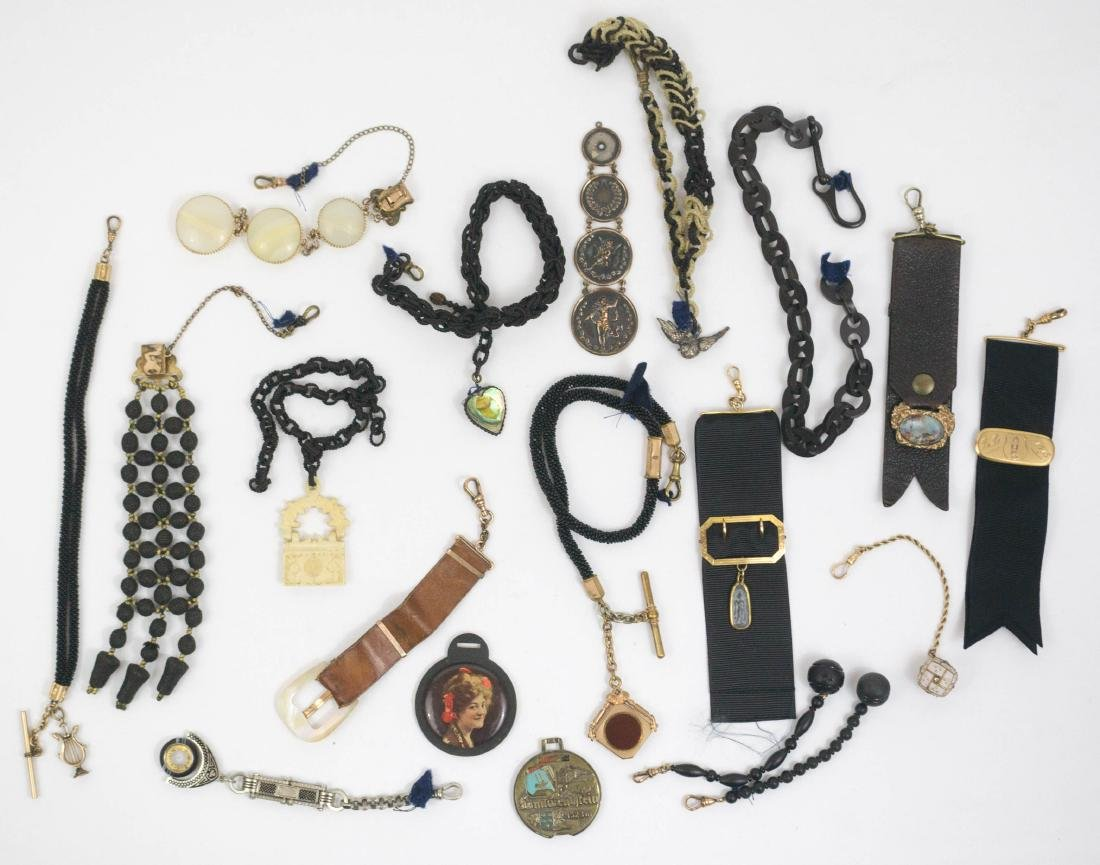Group of Nineteen Antique Watch Fobs