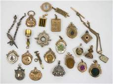 Group of Twenty-Four Antique Watch Fob Charms