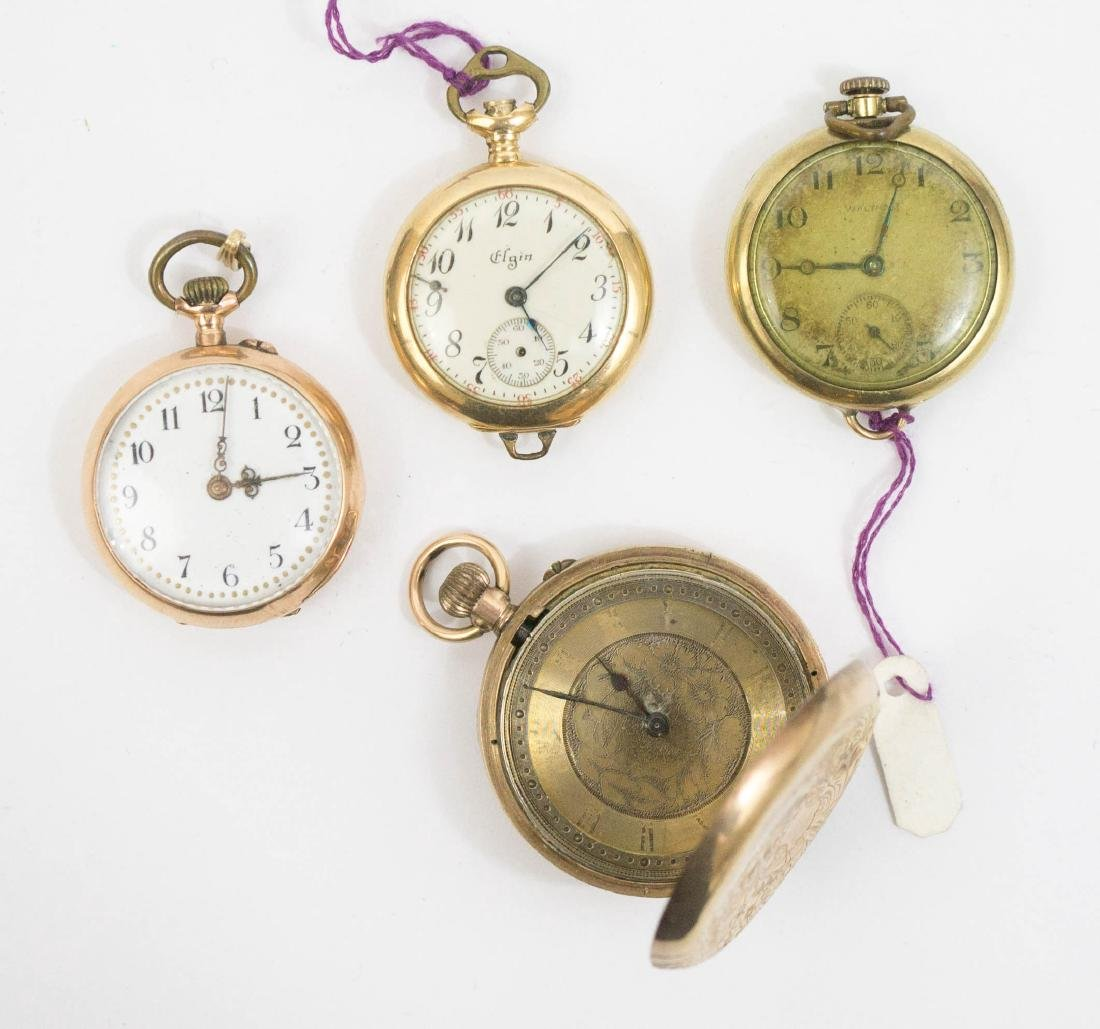 Four Ladies Gold Pocket Watches